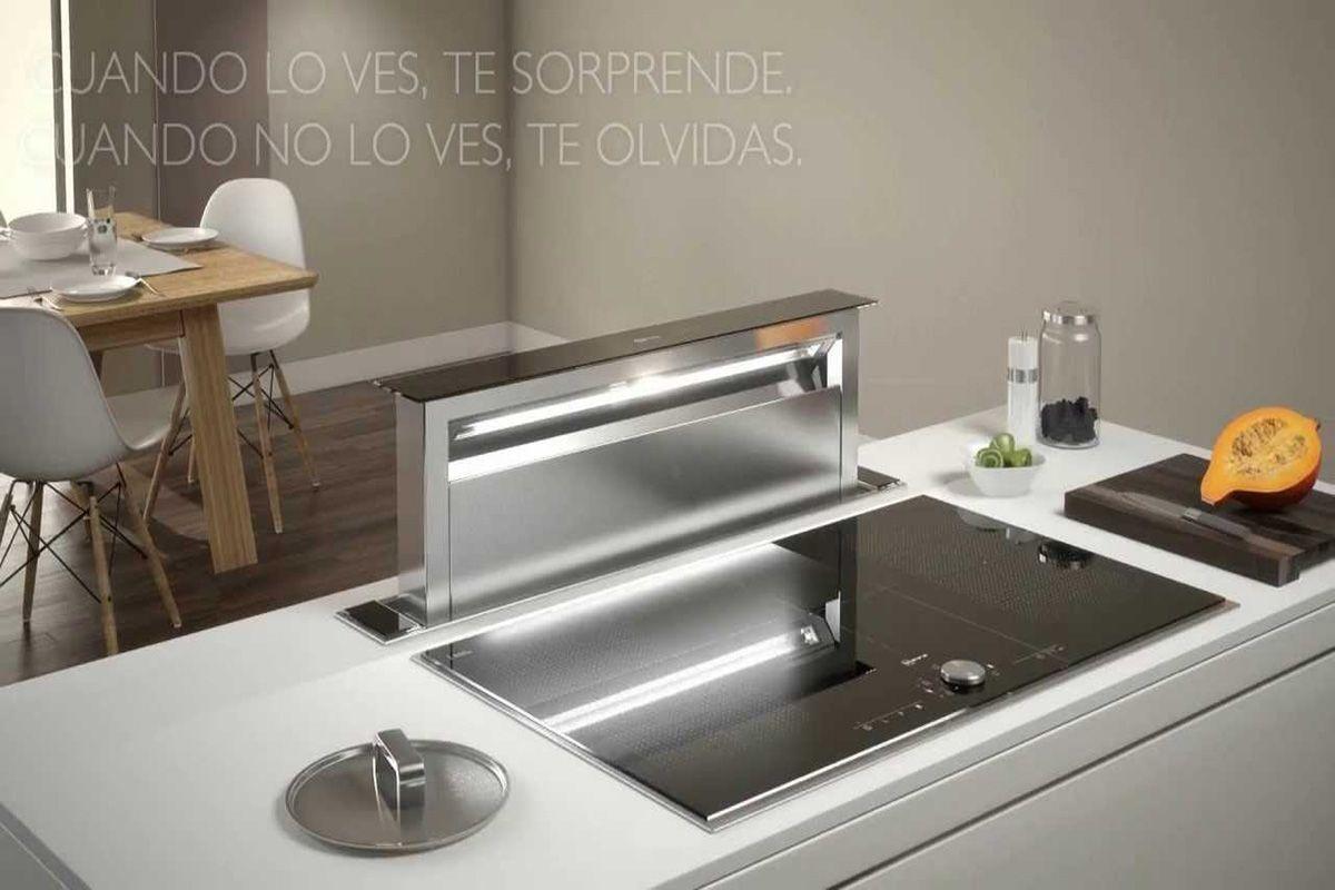 Soluciones de extracci n de humos innovadoras cocinas for Muebles de cocina kuchen