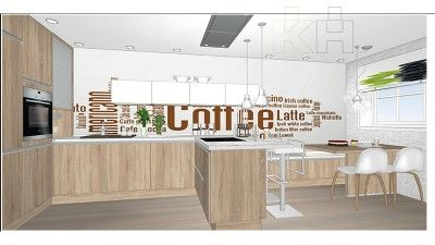 De una idea a tu cocina. Plano 3D en color | Render KüchenHouse Cocinas | Novedades en mobiliario de cocinas | Catálogo de cocinas | Ideas de decoración | Cocinas de Diseño Modernas | Cocinas Alemanas a precio de fábrica