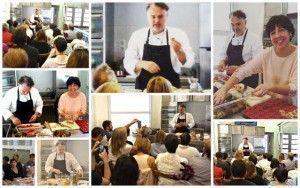 Pilar Criado de Les receptes que m'agraden. Hablamos con... Entrevistas Kuchen House. Pilar con Pere Arpa 1er Metting de bloggers en Girona