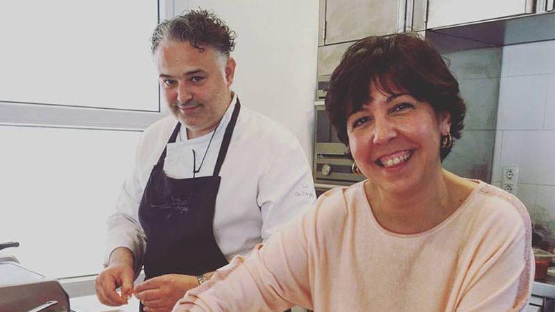 Pilar Criado de Les receptes que m'agraden. Hablamos con... Entrevistas Kuchen House. PIlar con Pere Arpa