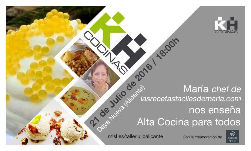Aprende con María alta cocina para todos con la colaboración de Jamones Redondo Iglesias   Taller de cocina Kuchen House.
