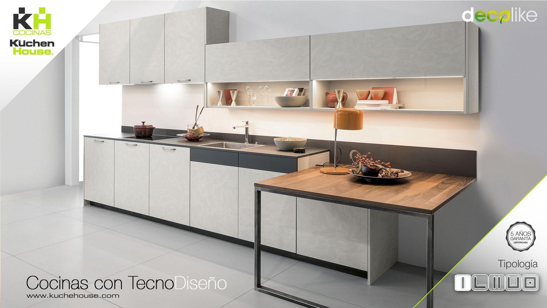 Cocina en Linea - Recta - Decolike - KuchenHouse - Reformas - Armarios - Hogar