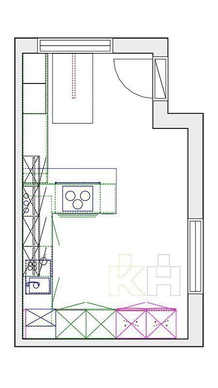Cocinas kuchenhouse de una idea a tu cocina plano - Planos de cocinas modernas ...