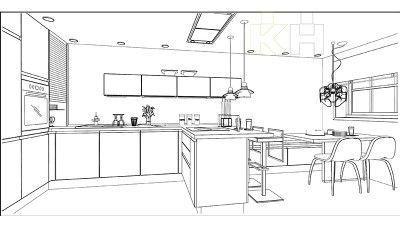 De una idea a tu cocina. Plano en 3D | Render KüchenHouse Cocinas | Novedades en mobiliario de cocinas | Catálogo de cocinas | Ideas de decoración | Cocinas de Diseño Modernas | Cocinas Alemanas a precio de fábrica