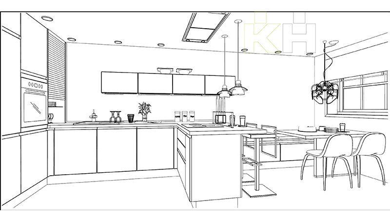 De una idea a una moderna cocina k chenhouse cocinas for Planos de cocinas autocad