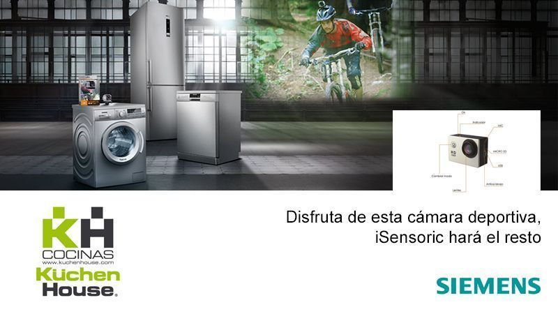 Promoción - iSensoric de Siemens y disfruta de una cámara deportiva | KüchenHouse Cocinas