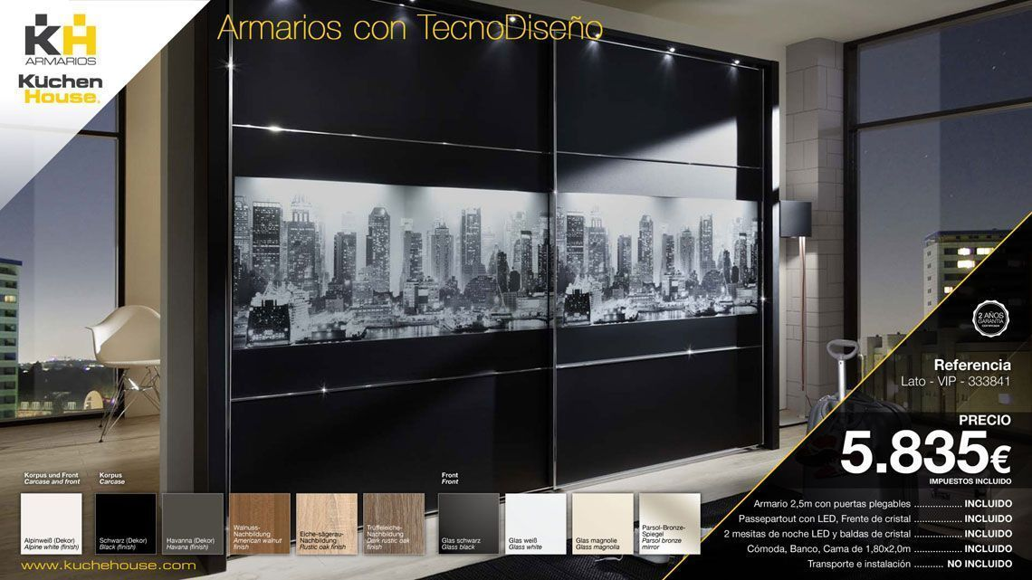 Modelo Lato - Armarios Kuchen House. Calidad Alemana.