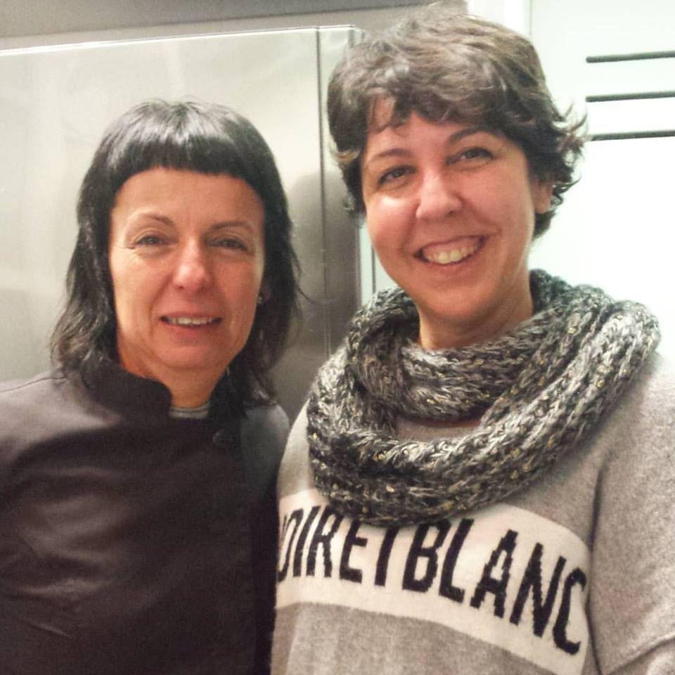 Pilar Criado de Les receptes que m'agraden. Hablamos con... Entrevistas Kuchen House. PIlar con Fina Puigdevall 2 estrellas Michelin
