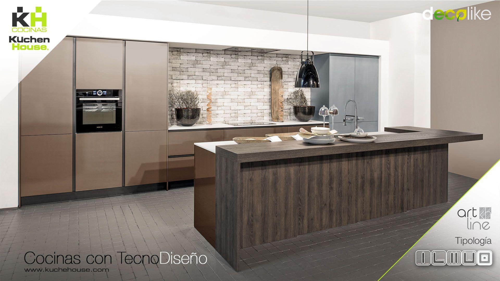 Cocina en Isla - Arline - Decolike - KuchenHouse - Reformas - Armarios - Hogar