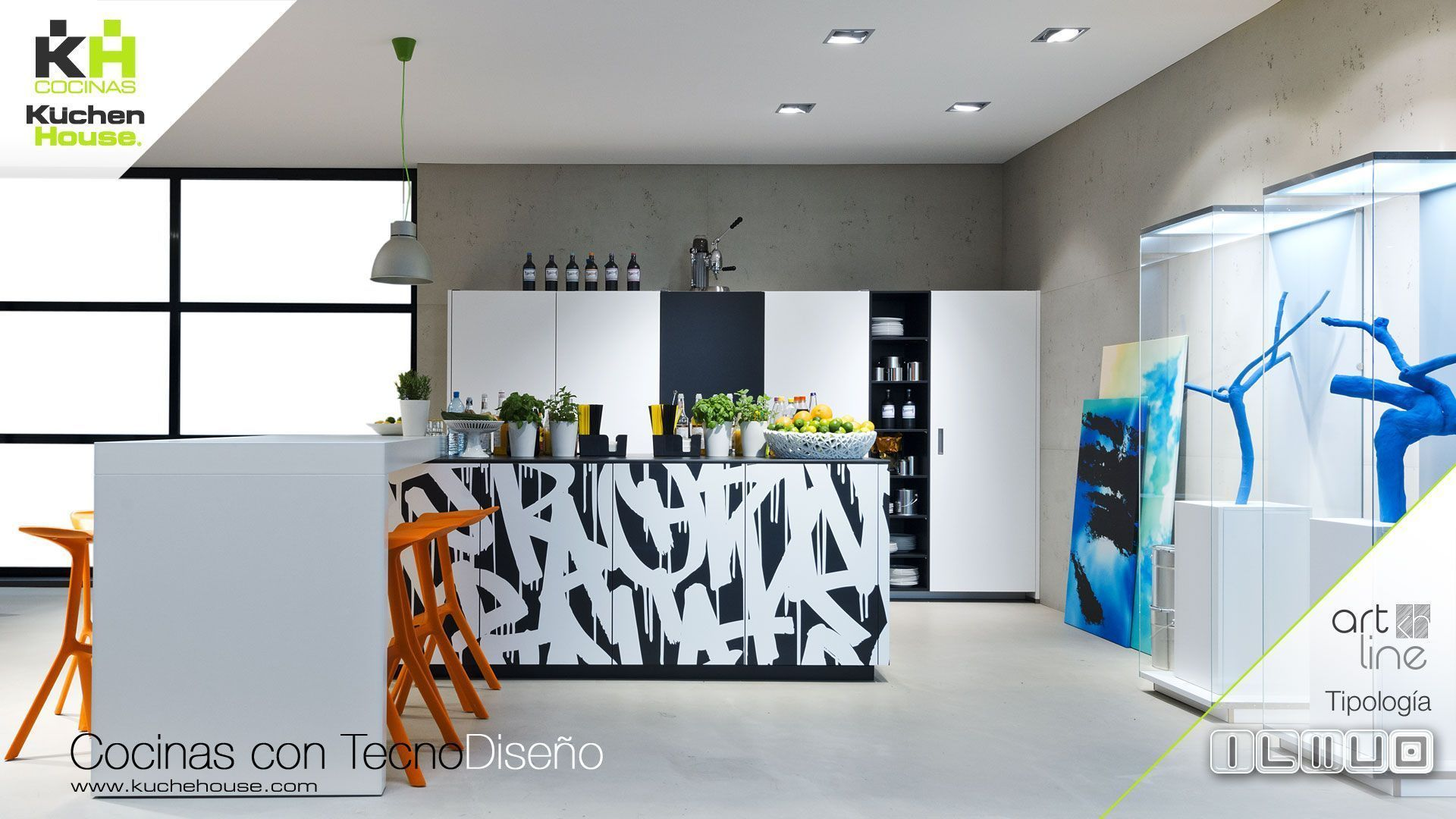 Cocina en Isla - Artline - KuchenHouse - Reformas - Armarios - Hogar