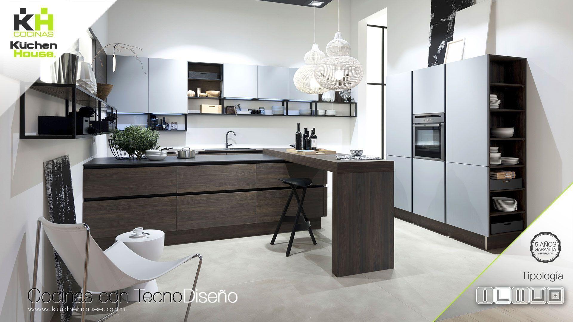 Cocina en L - KuchenHouse - Reformas - Armarios - Hogar