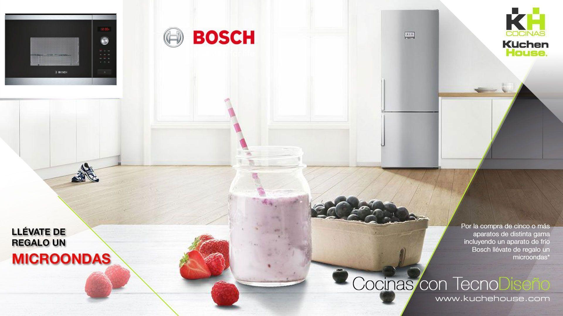 Tu nuevo microondas Bosch de regalo con la campaña de frío - KuchenHouse - Reformas - Armarios - Hogar