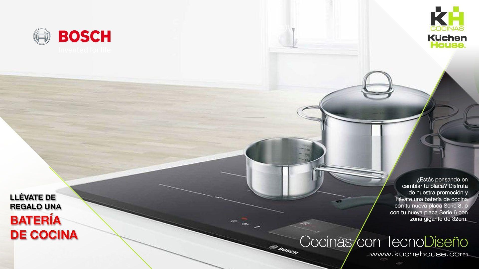 Una batería de cocina de regalo con tu nueva placa Bosch - KuchenHouse - Reformas - Armarios - Hogar